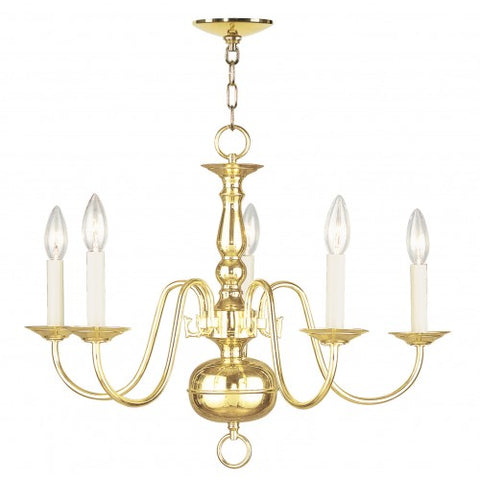 24 Inch Williamsburgh 5-Light Chandelier