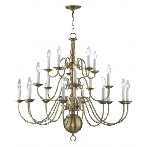 36 Inch Williamsburgh 20-Light Chandelier