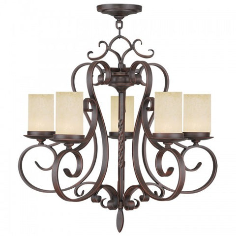 26 Inch Millburn Manor 5-Light Chandelier