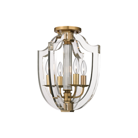 Arietta 4 Light Semi Flush