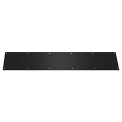 6 Inch Deltana Stainless Steel Kick Plate (Several Finish Options)