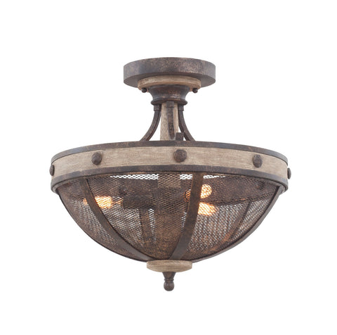 Coronado 16 Inch Semi Flush Mount