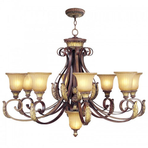 40 Inch Villa Verona 9-Light Chandelier