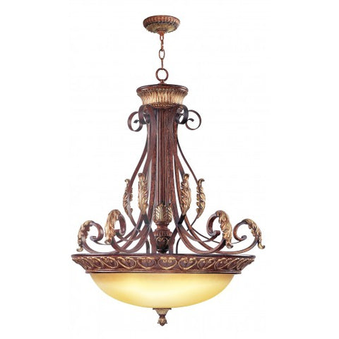 31 Inch Villa Verona 4-Light Pendant Chandelier Light