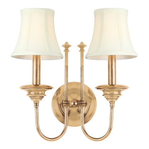 Yorktown 2 LIGHT WALL SCONCE