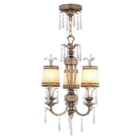 28 Inch La Bella 3-Light Pendant Chandelier Light