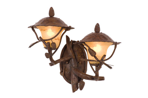 Ponderosa Outdoor 2 Light Wall Bracket (Left)