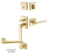 Solid Brass Baden Style Entryway Set in Several Finishes
