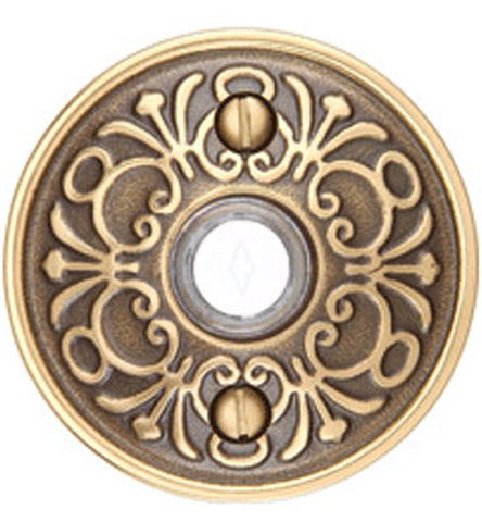 Emtek 2406 Doorbell Button With Lancaster Rosette