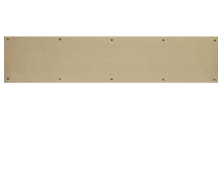 6 Inch Tall Solid Brass Kick Plate - Several Finishes Available