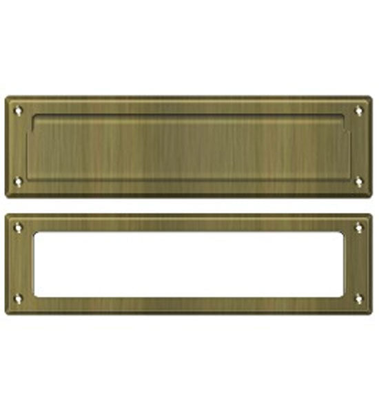 Magazine Size Front Door Mail Slot in Several Finishes