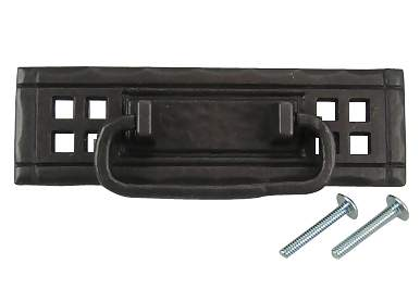 4 7/8 Inch Overall (4 1/4 Inch c-c) Arts & Crafts Antique Pewter Mission Style Horizontal Pull