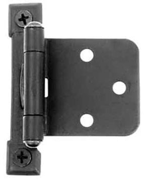 Self Closing Cast Pair of Black Matte Iron Butt Hinges