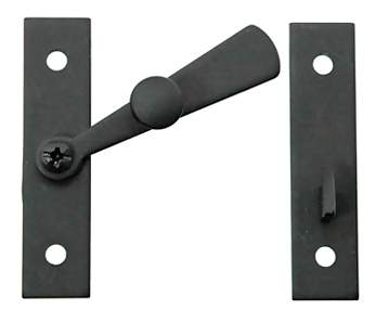 Cast Iron Cabinet Latch: Smooth Iron Square Latch