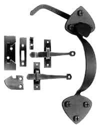 Early American Passage Rim Latch (In Swing or Out Swing Doors)