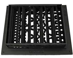 Black Iron Louvered Register: 10 Inch x 8 Inch