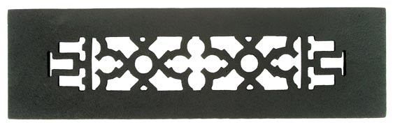 Black Iron Grille: 10 Inch x 2 1/4 Inch