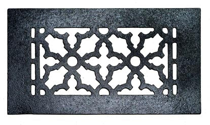 Black Iron Grille: 12 Inch x 10 Inch