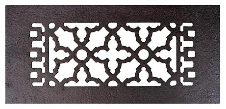 Black Iron Louvered Register: 10 Inch x 4 Inch