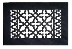 Black Iron Louvered Register: 10 Inch x 6 Inch