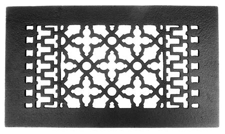 Black Iron Louvered Register: 12 Inch x 6 Inch