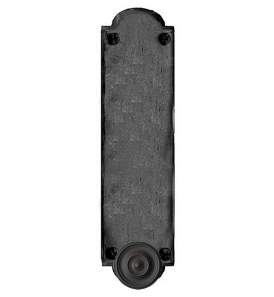 Oversized 15 3/4 Inch Iron Art Push Plate in a Matte Black Finish