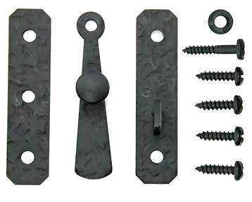 Cast Iron Cabinet Latch: Rough Iron Square Latch