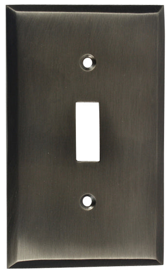 4 1/2 Inch Solid Brass Traditional Switch Plate
