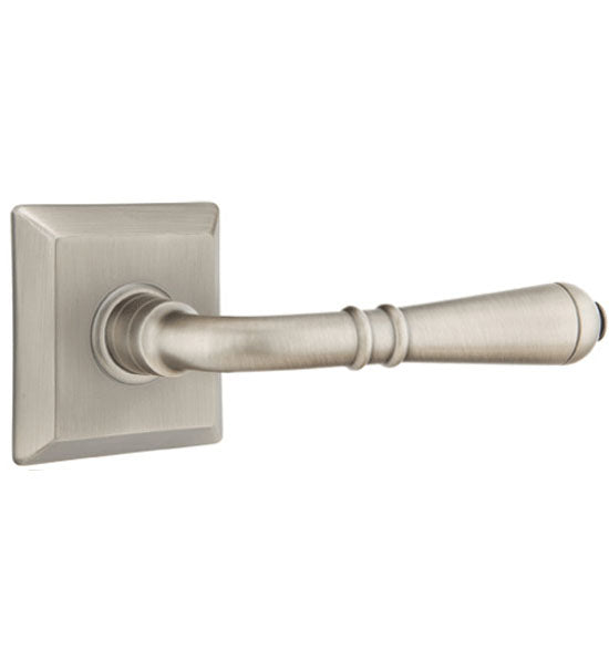 Emtek Solid Brass Turino Lever With Quincy Rosette