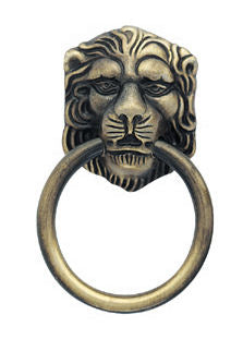 2 1/8 Inch Tall Lions Head Ring Pull