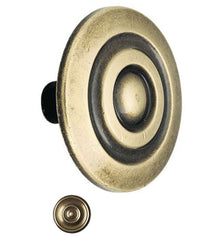 Traditional Colonnade Style Metal Round Cabinet Knob