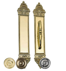 16 1/4 Inch European Style Door Pull & Push Plate Set Several Finishes