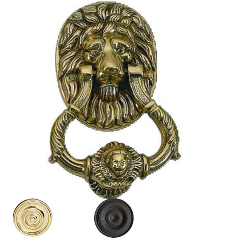7 Inch Large Ornate Lion Door Knocker in Several Finishes