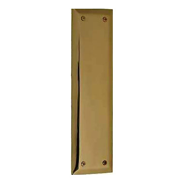10 Inch Quaker Style Push Plate (Several Finish Options)