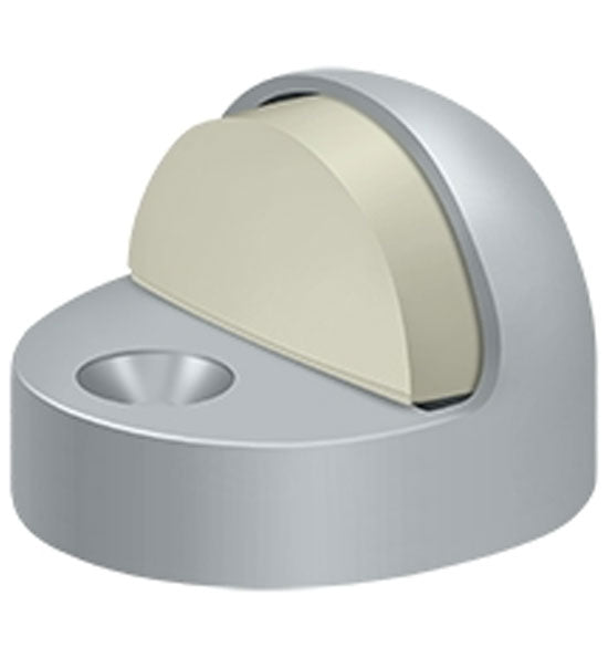 High Profile Floor Mounted Bumper Door Stop in Several Finishes