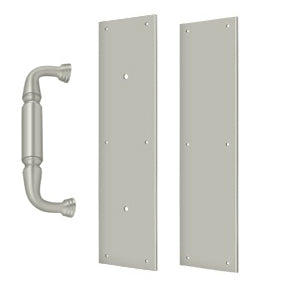 15 Inch Traditional Door Pull Plate, Handle and Push Plate