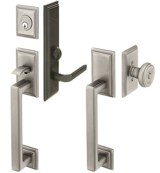 Solid Brass Mills Style Mortise Double Door Entryway Set