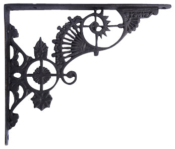 10 5/8  Inch Long Solid Iron Heavy Cast Shelf Bracket