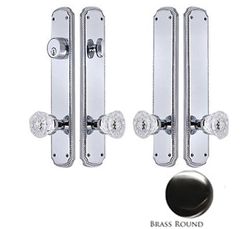 11 1/2 Inch Beaded Double-Door Deadbolt Entryway Set
