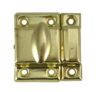 1 7/8 Inch Solid Brass Plated Cupboard Door Catch