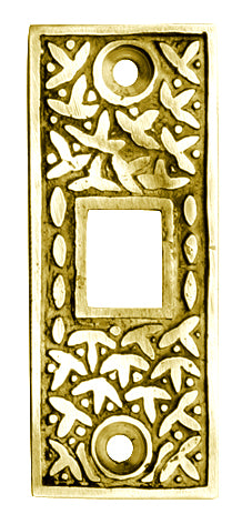 2 1/4 Inch Solid Brass Rice Pattern Pocket Door Strike Plate