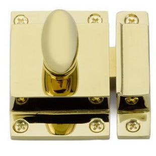 Emtek Solid Brass Egg Knob Cabinet Latch Set