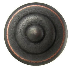 Yukon Solid Brass Cabinet and Furniture Knob in Oil Rubbed Bronze