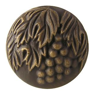 1 3/8 Inch Vineyard Solid Brass Knob