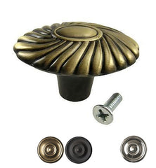 Round Orchid Cabinet & Furniture Knob
