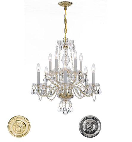 Crystorama 25 Inch Traditional Crystal 10 Light Chandelier