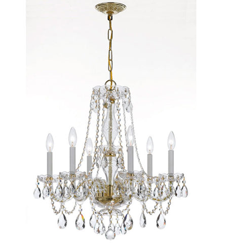 Crystorama 25 Inch Traditional Crystal 6 Light Chandelier