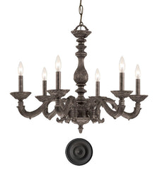 Crystorama 28 Inch Paris Market 6 Light Chandelier