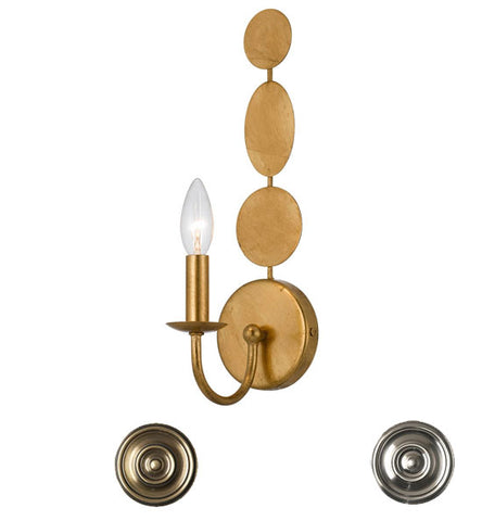 Crystorama Layla 1 Light Wall Sconce