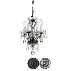 Crystorama 15 Inch Traditional Crystal 4 Light Mini Chandelier